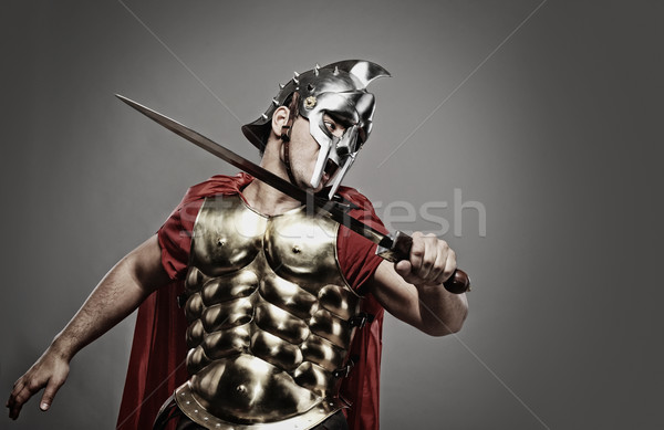 Legionary soldier ready for a fight Stock photo © Nejron