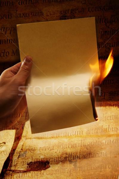 Burn after reading Stock photo © Nejron