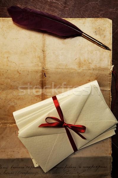 Vintage letter concept. Stock photo © Nejron