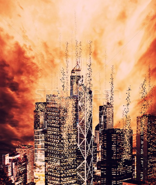 Son dünya şehir soyut doğa arka plan Stok fotoğraf © Nejron