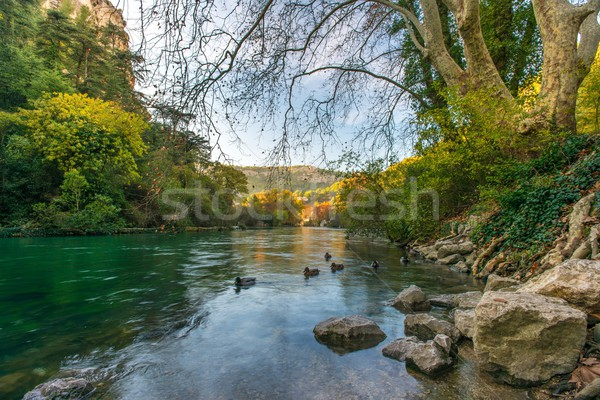 Stock photo: Beautiful river in Fontaine-de-Vaucluse, France