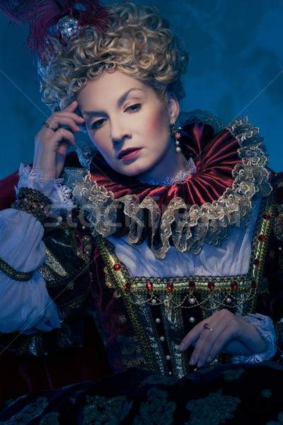 Pensive queen in royal dress Stock photo © Nejron