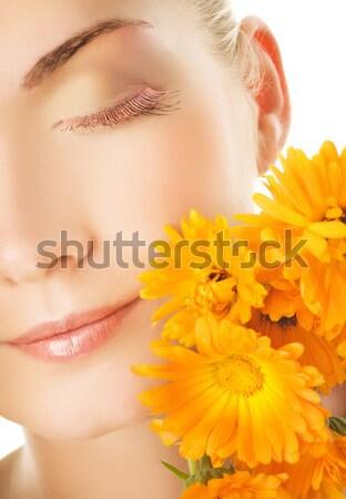 Сток-фото: красивая · девушка · красочный · свежие · овощи · рук · Sweet