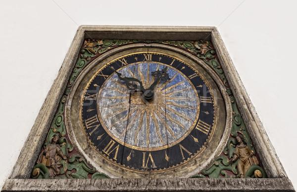 Ancient clock isolated on white background Stock photo © Nejron