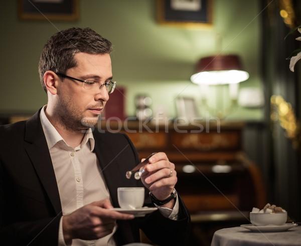 Stockfoto: Beker · koffie · luxe · vintage · stijl