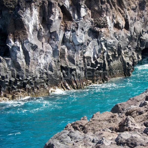 Water between two rocks. Stock photo © Nejron