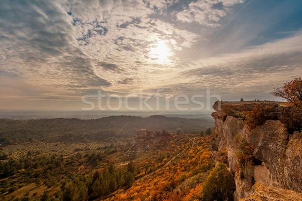 Beautiful landscape view at  Les Baux-de-Provence, France Stock photo © Nejron