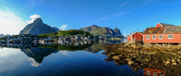 Panoramic view of a Reine village in Norway Stock photo © Nejron