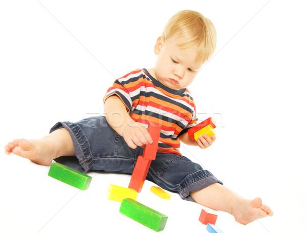 Bella giovani bambino giocare intellettuale gioco Foto d'archivio © Nejron