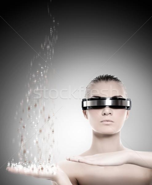 ストックフォト: 女性 · ロボット · ナノテクノロジー · 女性 · 少女 · 顔
