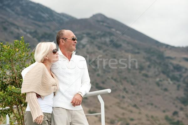 Middle-aged couple outdoors Stock photo © Nejron