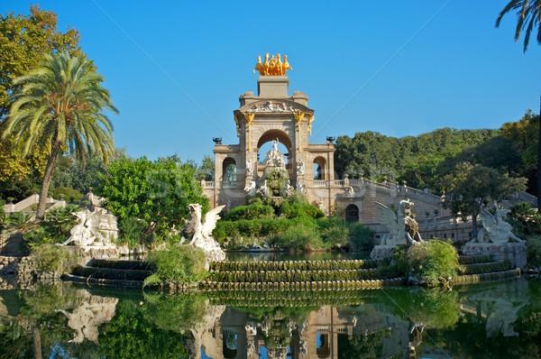 噴水 ラ バルセロナ 市 建設 芸術 ストックフォト © Nejron