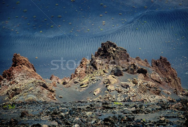 Timanfaya National Park, Lanzarote , Canary island. Stock photo © Nejron