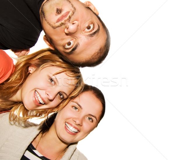 Happy friends isolated on white background Stock photo © Nejron