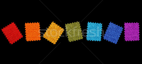 Colorful fabric patterns Stock photo © Nejron