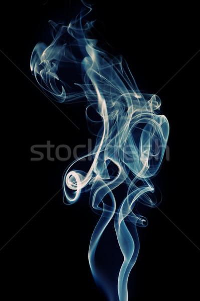Abstrato fumar projeto espaço preto papel de parede Foto stock © Nejron