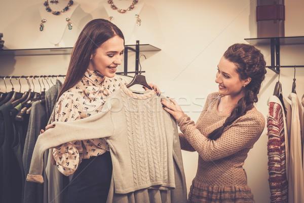 若い女性 ショールーム 女性 ショッピング ストックフォト © Nejron