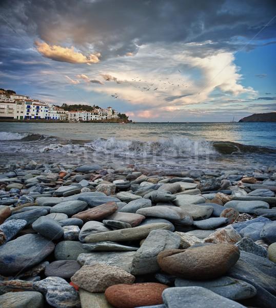 Cadaqués city beach. Stock photo © Nejron