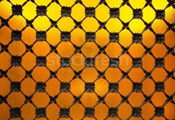 Decorative metal grating close-up Stock photo © Nejron