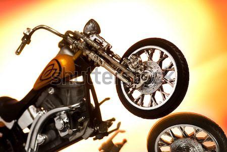 Motorcycle isolated on white background Stock photo © Nejron
