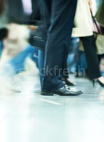 Stok fotoğraf: Hareketli · kalabalık · soyut · grup · kentsel