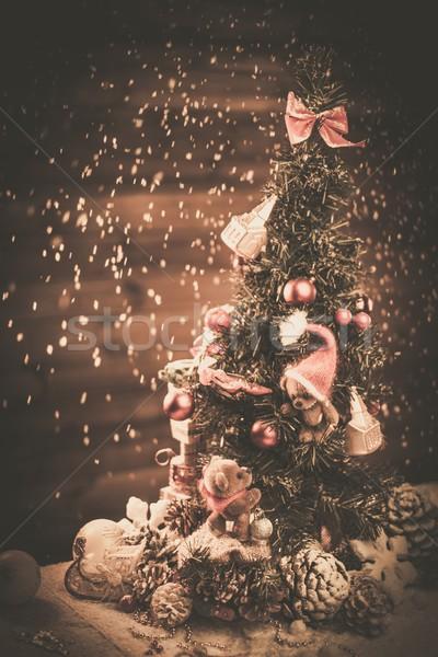 クリスマス 静物 テディベア ツリー 愛 おもちゃ ストックフォト © Nejron