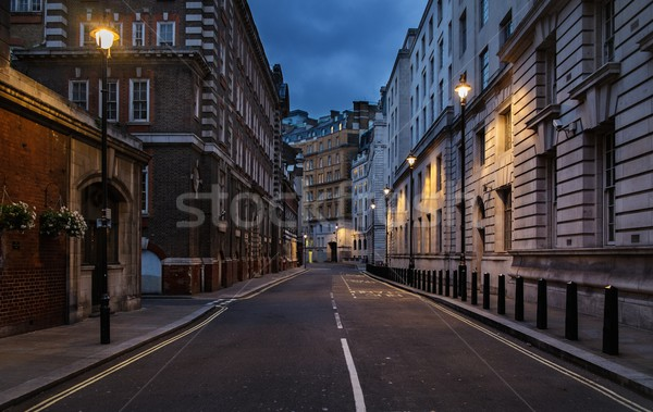 Empty street of London at night Stock photo © Nejron