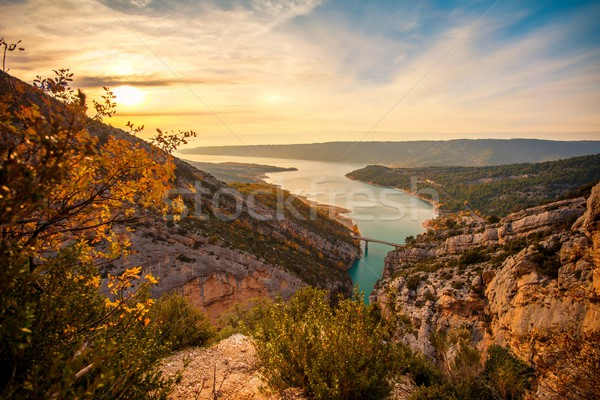 Beautiful view of Gorges du Verdon, France Stock photo © Nejron