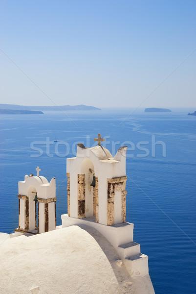 Church near the sea (Santorini Island, Greece) Stock photo © Nejron