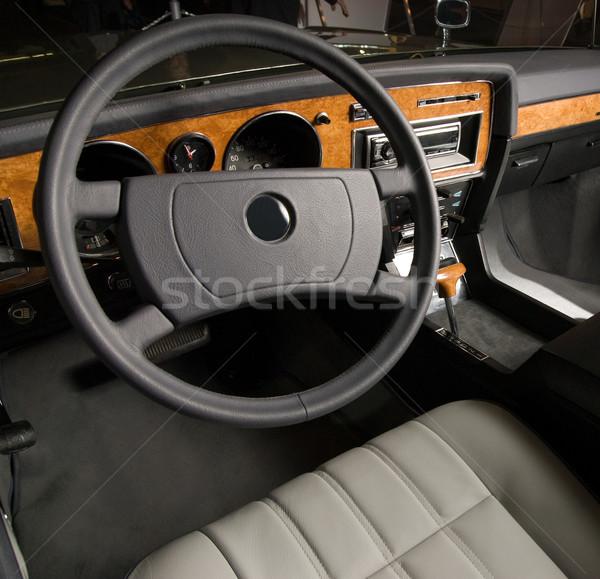 Luxus altes Auto Innenraum Design Retro Jahrgang Stock foto © Nejron
