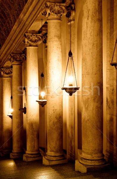 Rząd kolumny Włochy watykan tle stylu Zdjęcia stock © Nejron