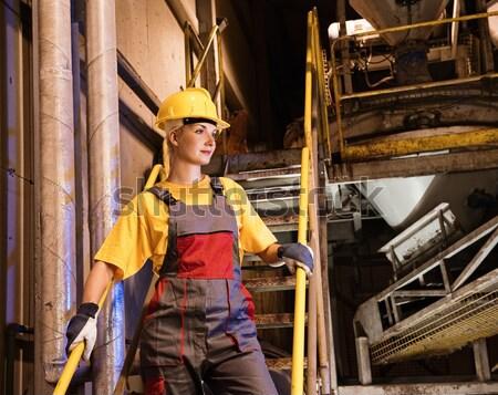 女性 工場労働者 女性 作業 美 ツール ストックフォト © Nejron