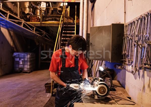 工場労働者 建物 男 作業 金属 ルーム ストックフォト © Nejron