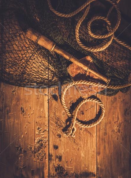 海 旅行 木製 インテリア 世界 海 ストックフォト © Nejron