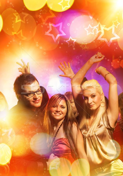 Personas baile club nocturno nina mujeres moda Foto stock © Nejron
