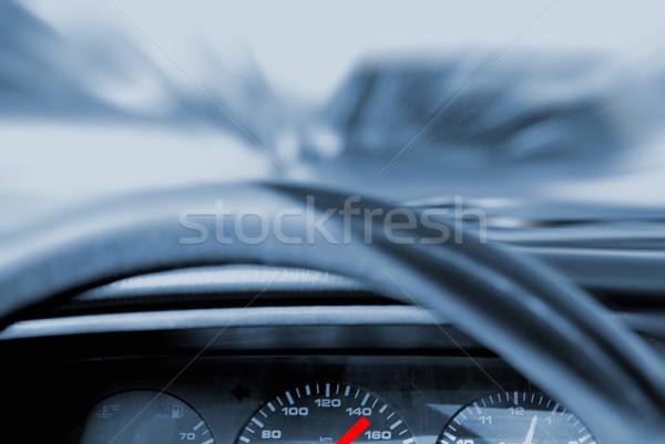 Autó csattanás kék út háttér sebesség Stock fotó © Nejron