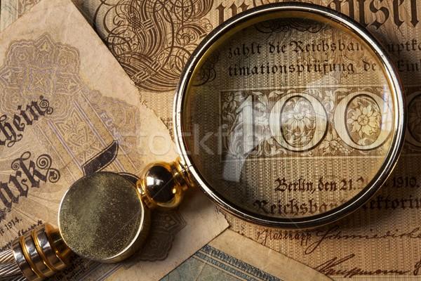 Oude bankbiljet papier abstract glas Stockfoto © Nejron