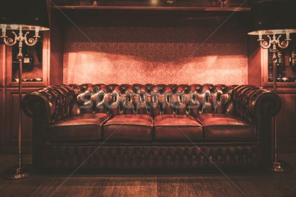 Leather sofa in vintage style luxury interior  Stock photo © Nejron