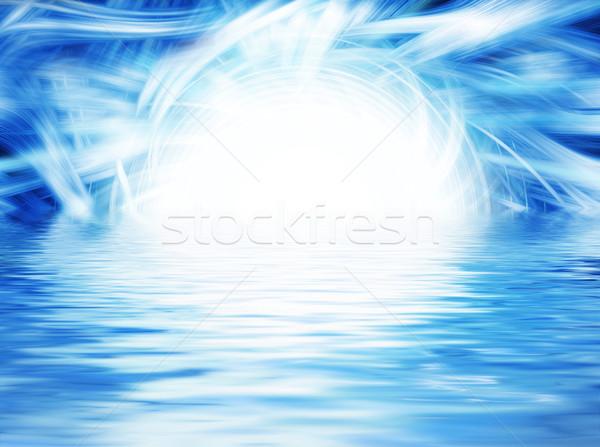 Abstract blue background Stock photo © Nejron