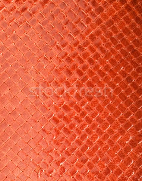 Red leather texture Stock photo © Nejron