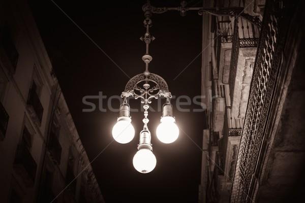 Streetlight on a street of Barcelona, Spain Stock photo © Nejron