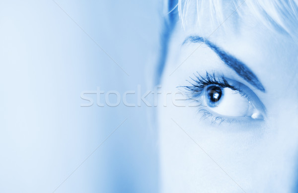 Human eye toned in blue Stock photo © Nejron