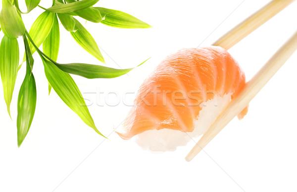 木製 箸 鮭 刺身 食品 ストックフォト © Nejron