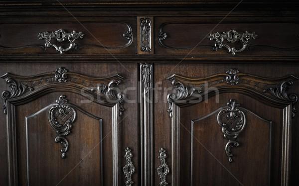 Vieux poitrine tiroirs maison intérieur vintage Photo stock © Nejron