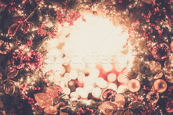 Shiny christmas wreath  Stock photo © Nejron