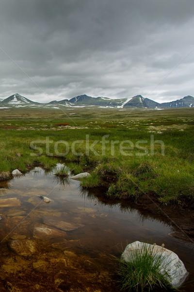 Small pond in a mountains Stock photo © Nejron