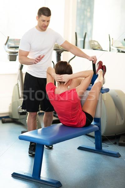 личные фитнес тренер брюшной осуществлять Сток-фото © Nejron