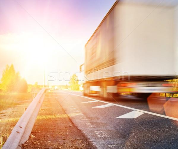 Veloce movimento camion strada viaggio autostrada Foto d'archivio © Nejron