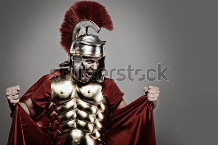 Soldado listo guerra fondo metal poder Foto stock © Nejron