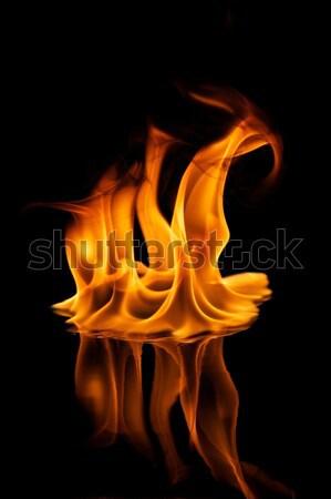 Piękna elegancki ognia płomienie wody projektu Zdjęcia stock © Nejron